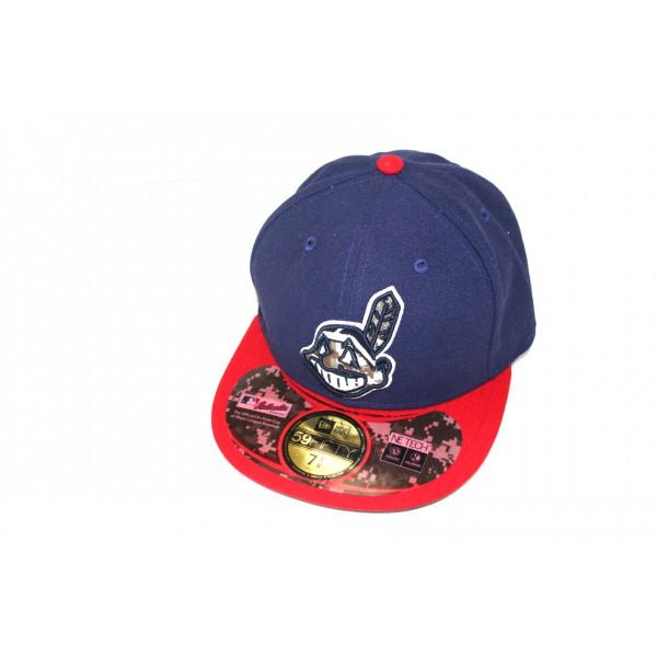 Casquette New Era 59FIFTY Cleveland Indians - Bleu